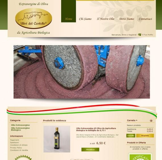 eCommerce Frantoio Ulivi del Castello