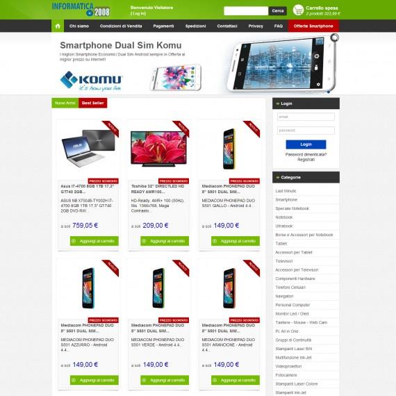 Realizzazione eCommerce Informatica 2008