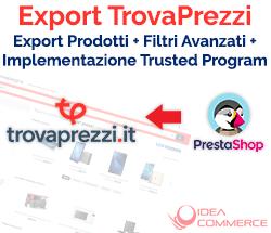 Modulo Trovaprezzi Prestashop: Export prodotti e filtri avanzati con Implementazione Trusted Program