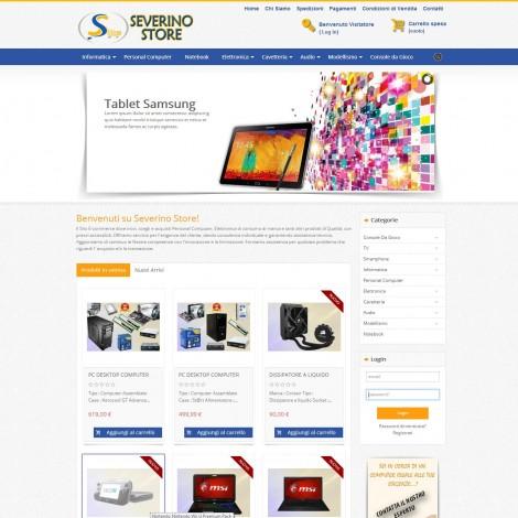 Realizzazione eCommerce SeverinoStore.it
