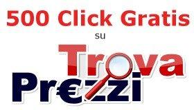 Promozione 500 click gratis TrovaPrezzi