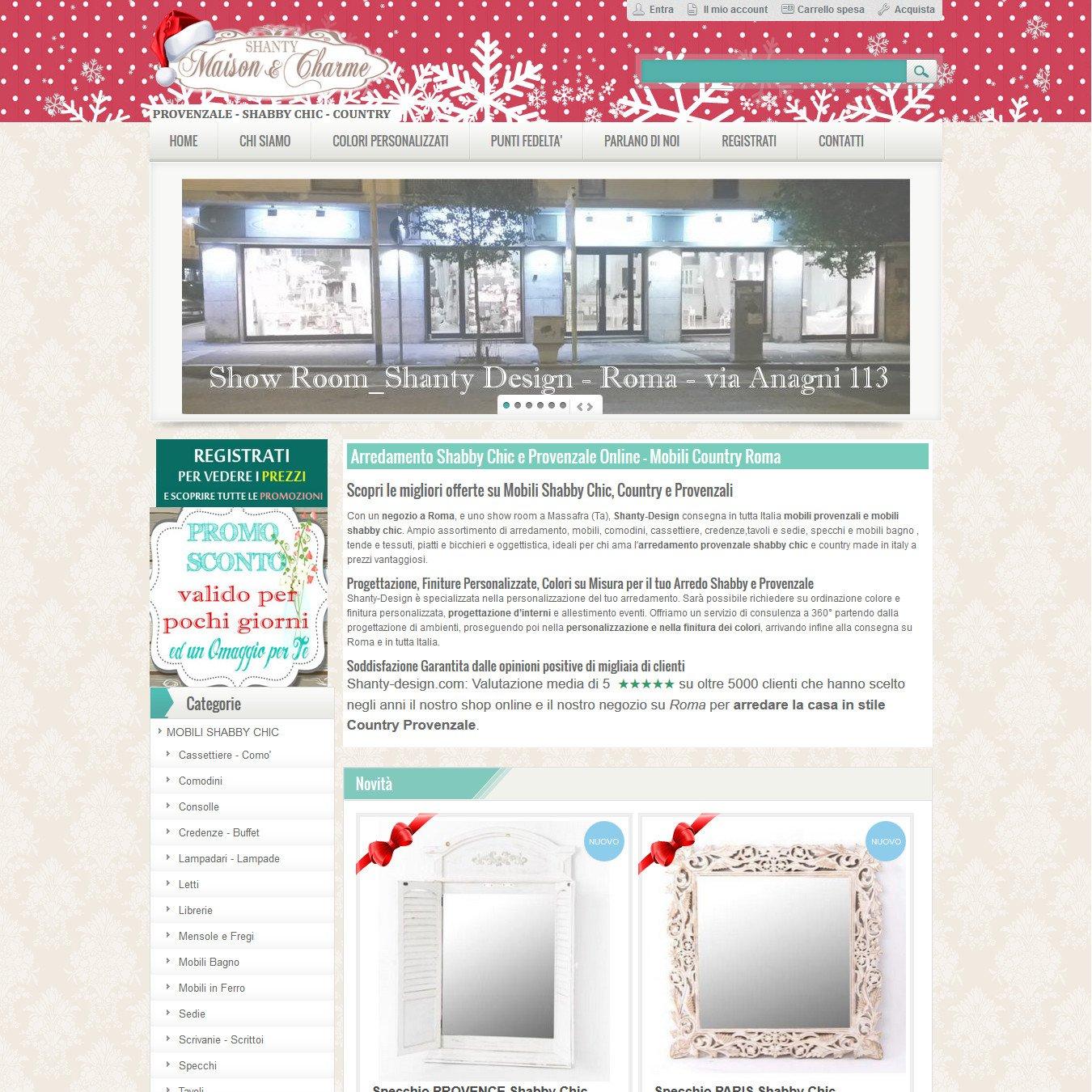 Arredamento Shabby Chic Roma.Shanty Design Roma Ideacommerce