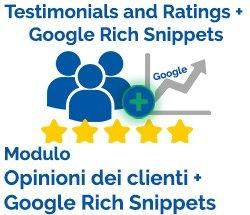 Modulo Opinioni dei Clienti + Google Rich Snippets