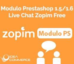 Modulo Live Chat Zopim Prestashop