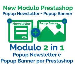 Modulo Popup Newsletter e Popup Banner per Prestashop