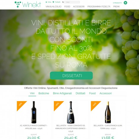 Winekt.com Offerte Vini Online
