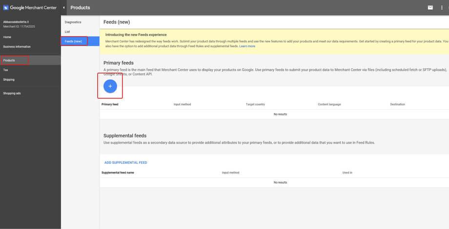 Google Merchant Center New Product Feed