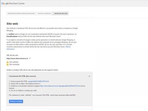 Procedura di Registrazione al Google Merchant Center - Step 3