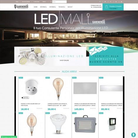 Realizzazione Ecommerce illuminazione led Garenergie