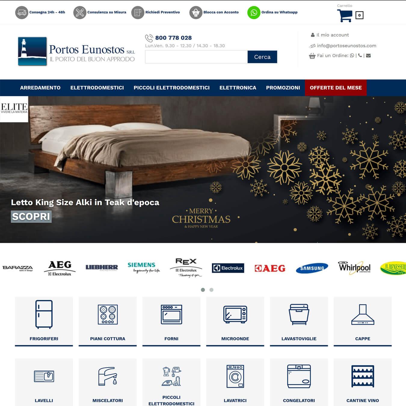 Realizzazione ecommerce for E commerce arredamento