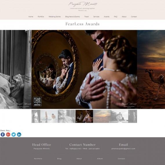 Pagine Premi Sito Web Multilingua Pasqualeminniti.com