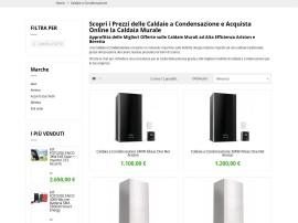 Realizzazione ecommerce per vendita online caldaie a condensazione