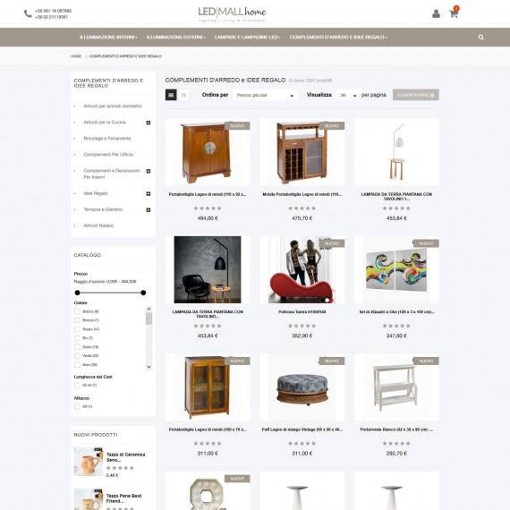 Eommerce vendita online complementi d'arredo e idee regalo esclusive