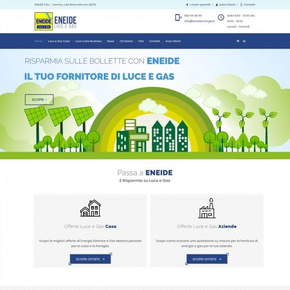 Realizzazione portale web Eneide Energia Fornitore Luce e Gas