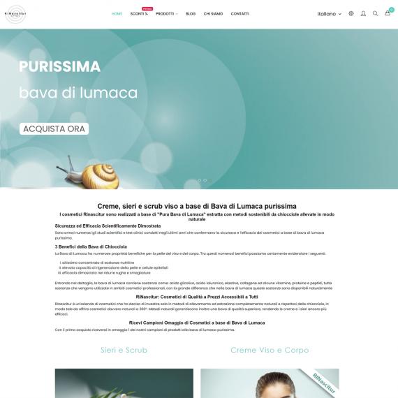 Realizzazione sito ecommerce per vendita cosmetici online